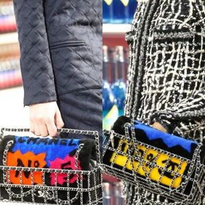 Chanel Limited Edition Patchwork Shearling FlapBag